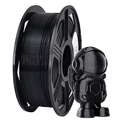 YOYI 3D Printer Filament,ABS Filament 1.75mm 1kg Spool Dimensional Accuracy +/- 0.03 mm,100% Europe Raw Material (black)