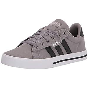 adidas unisex child Daily 3.0 Skate Shoe, Dove Grey/Black/White, 6 Big Kid US