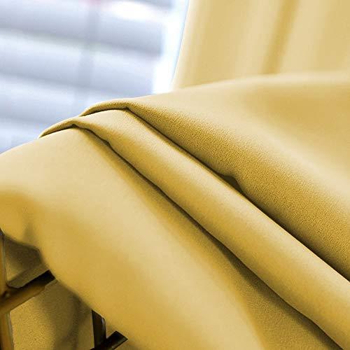 NICETOWN遮光カーテンカフェーカーテン仕切り用幅100cm丈60cmイエロー2枚セット防音断熱厚地目隠し小窓用キッチンカーテン北欧子供ルーム部屋居間寝室
