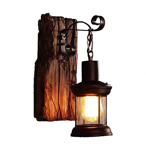 IJeilo Horse Coffee Shop Negozio wandlamp van nostalgisch glas in de gang van licht hout E27, geen onderdompeling Het raam is perfect of nee