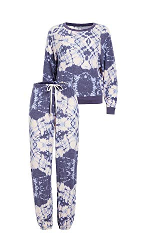 Honeydew Intimates Women's Starseeker Lounge Set, Silent Night Tie Dye, Print, Blue, Medium