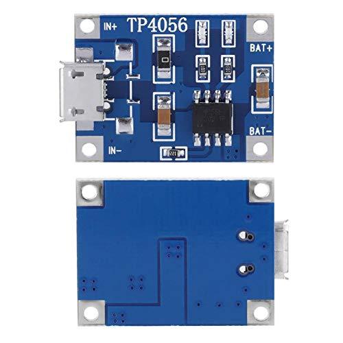 Tablero de protección 18650 10Pcs / Set Micro USB Tablero de carga de batería de litio confiable 5V 1A para 3.6V 3.7V 18650 Convertidores de energía de batería de polímero de litio