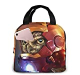 Lsjuee The Owlvengers Iron Owl Picnic Bag Lunch Bag Gran capacidad impermeable Unisex Shopping Bag Office Travel Outdoor