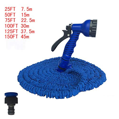 BMG tuinslang, 25 ft-150 ft verlengbare slang, heavy duty flexibele lekbestendige broek - 7-patronen hogedruk water sproeier spray