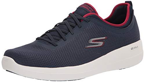 Skechers GO Walk MAX Deluxe, Zapatillas Hombre, Azul Marino, 49.5 EU