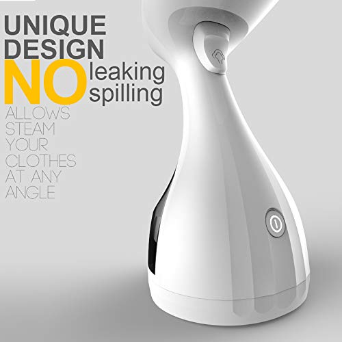 MagicPro Portable Garment Steamer for Clothes, Garments, Fabrics Removes Wrinkles for Fresh Clothing, Fast Heat and Auto Off, Handheld Travel Steamer with Detachable 300ml Water Tank