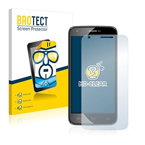 BROTECT Schutzfolie kompatibel mit Doogee Valencia 2 Y100 Pro (2 Stück) klare Bildschirmschutz-Folie