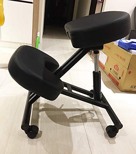 Ergonomische Kneeling Stoel Verstelbare Kneeling Kruk Dikke Comfortabele Kussens voor Office Home Balancing Lichaam Vormende Rugpijn Bureau Computer Kneeling Kruk Stoel (Kneeling stoel)