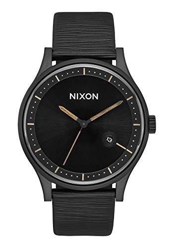 Nixon Unisex Erwachsene Analog Quarz Uhr mit Leder Armband A11612987-00