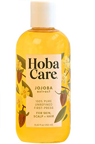 The Original Jojoba Company - HobaCare Jojoba 8.44 oz. (250 mL) – Pure Jojoba for Face...
