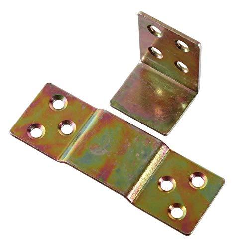 Möbelverbinder Universal Gelb Verzinkt Bettverbinder Steckverbinder Couchverbinder Metallverbinder