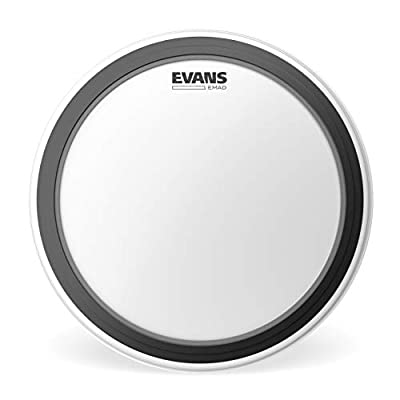 Evans EMAD Coated White Bass Drum Head, 20 Inch