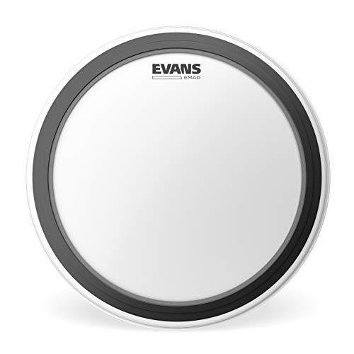 Evans BD18EMADCW Pelle Sabbiata EMAD per Grancassa, 18', Bianco