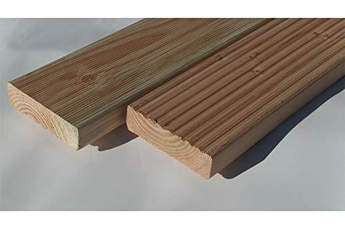 Muster Douglasie Terrassendiele einseitig glatt gehobelt, einseitig glatt/gebürstet, 40 x 145 mm (6,59 € / lfm)