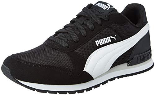 PUMA ST Runner V2 Mesh JR, Zapatillas Unisex niños, Negro Black White/Gray Violet, 39 EU