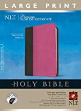Premium Slimline Reference Bible NLT, Large Print, TuTone (Red Letter, LeatherLike, Pink/Brown, Indexed)
