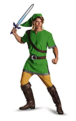 Disguise Men's Link Classic Adult Costume, Green, XX-Large
