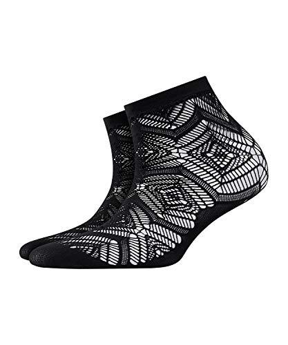 BURLINGTON Damen Socken Argyle Lace - 1 Paar, Schwarz (Black 3000), Größe: 36-41