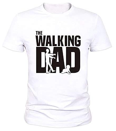 Inception Pro Infinite Maglia Walking Dad - T-Shirt Maniche Corte - Maglietta - IDE Regalo - Divertente - Festa del Papa - Maschio - Uomo - Misura S - Bianco - Idea Regalo Originale