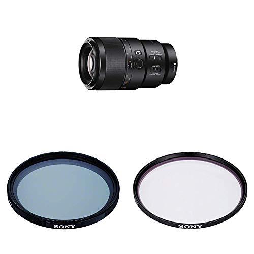 Sony SEL-90M28G G Makro Objektiv (Festbrennweite, 90 mm, F2.8, Vollformat) schwarz + VF-62CPAM2 Mehrfach beschichteter Schutzfilter, Polfilter 62mm + Sony VF-62MPAM Carl Zeiss T MC-Schutzfilter
