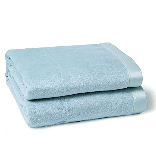 """CUDDLE DREAMS Silk Blanket for All Seasons, Premium Mulberry Silk, Naturally Soft, Breathable (Ice Blue, King 108"""" × 90"""")"""