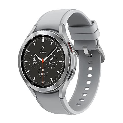 Samsung Galaxy Watch4 Classic – Smartwatch, Bisel Giratorio, Control de Salud, Seguimiento Deportivo, Bluetooth, 46 mm, Color Plata (Version ES)