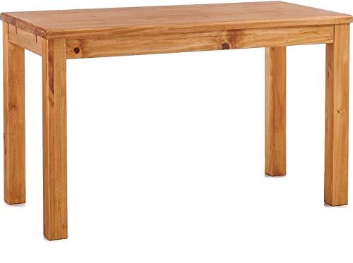 Brasilmöbel Esstisch Rio Classico 140x80 cm Honig Massivholz Pinie Holz Esszimmertisch Echtholz Größe und Farbe wählbar ausziehbar vorgerichtet für Ansteckplatten