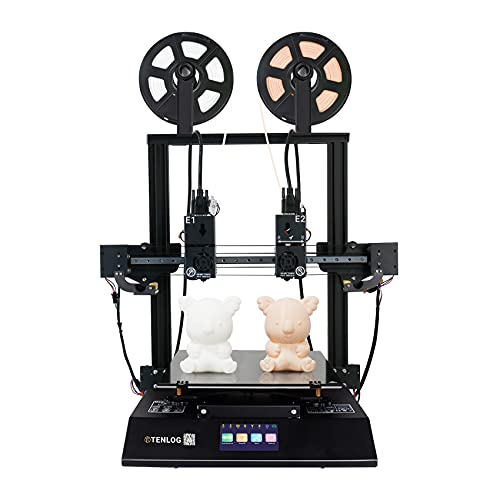 TENLOG TL-D3 Pro Independent Dual Extruder 3D Printer with 300 Degree High Temperature Nozzle,Silent Mainboards, TMC2208 Drive,600W Power Supply, 11.8''x11.8''x13.8''