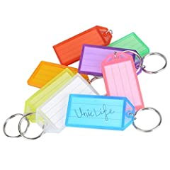 Made of tough polypropylene to protect your label. Reusable, Durable and Lightweight. 8 Assorted colors to meet your need: White, Blue, Red, Yellow, Purple, Pink, Orange and Green, easy to attract eyes. Measures 2.2 x 1.15 x 0.2 inch Paper insert can...