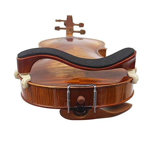 """Adjustable Solidwood Violin Shoulder Rest with Collapsible for 3/4 4/4 Violin Fiddle and 12"""" 13"""" Viola (3/4 or 4/4 Violin Shoulder Rest)"""