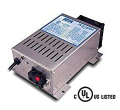 CONVERTS NOMINAL 108-132AC VOLTAGE TO 13.4 DC VOLTAGE FOR BOTH LOAD OPERATION AND 12V BATTERY CHARGING IDEAL FOR CHARGING ALL TYPES OF 12 VOLT LEAD ACID BATTERIES INCLUDING FLOODED, ABSORBED GLASS MAT ( AGM ) AND GEL CELL INCLUDES THE IQ4 SMART CHARG...