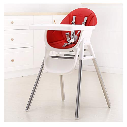 Lowest Price! Babies &Toddlers High Chair Easy to Clean Baby High Chair with Natural Legs (Color : R...