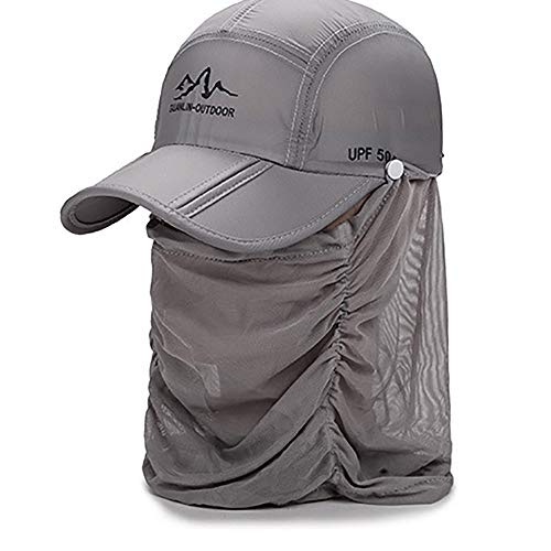 ZSJZSJ Mosquito Head Net Mesh/Hat/for Men Or Women/Insect Shield/Safari Hat/Sea to Summit/Mosquito Head Net Mesh/Netting/Mosquito Head Face Net/Mosquito Headnet Adjusted Summer,Grey1