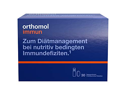 Orthomol Immun Vitamin Drink Bottles and Tablets, Pack of 30 (Individually Packaged)