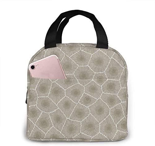 Petoskey Stone - Bolsa de almuerzo para mujeres,niñas y niños,bolsa de picnic aislada,bolsa gourmet,bolsa cálida para el trabajo escolar,oficina,camping,viajes,pesca