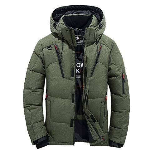 Daysing Herren Winterjacke Warme Dicke Winter Parka,Männer Daunenparka Mode Kapuzenjacke Hoodie Wattierte Jacke