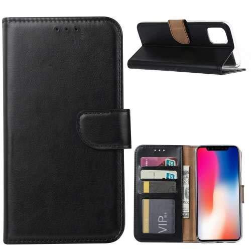 Flip Case iPhone 11 Hoesje Zwart met Pasjeshouder
