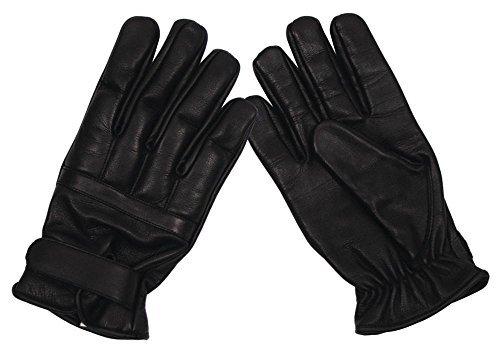 MFH 15615 Security Lederhandschuhe mit Quarzsand (Schwarz/L)