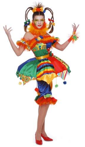 Cesar - Disfraz de payasa, juglar para mujer (adulto), talla 42/44 cm