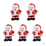 HomeDecTime 10 Piezas Figuras de Resina de Santa Claus , Decoración de Casa de Muñecas DIY, Decoración Miniatura de Resina de Jardin