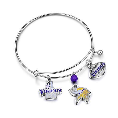 NFL Minnesota Vikings Three Charm Logo Bracelet