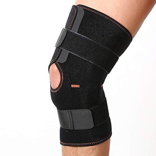 LIOOBO Profesionales Rodillera Apoyo de la Rodilla Totalmente Ajustable Alivio seco Transpirable Abierto rótula Dolor en menisco Artritis y fútbol (S/M)