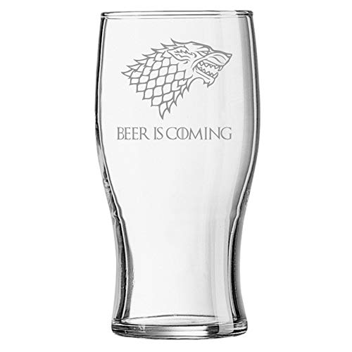 Lapal Dimension Beer is Coming House Stark Game of Thrones Bierglas