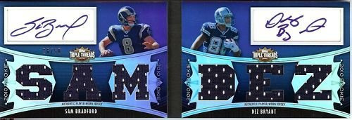 Sam Bradford Dez Bryant 2010 Triple Threads Game Used Jersey And Dual Auto /50