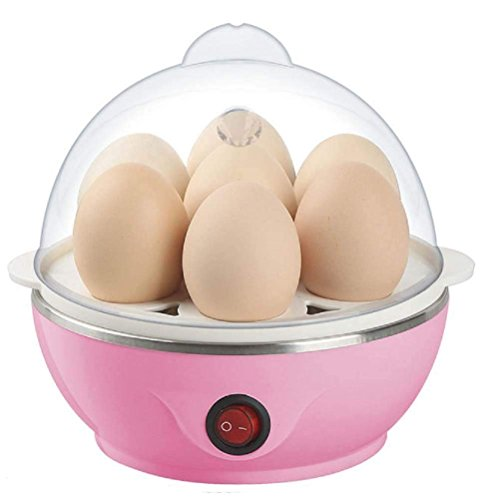Kaur's Egg Boiler Electric Automatic Off 7 Egg Poacher for Steaming, Cooking, Boiling and Frying, Multicolour