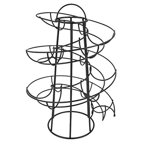 RSLG Egg Skelter Deluxe Spiraling Dispenser Rack Basket Storage Space Up to 24 (Black)