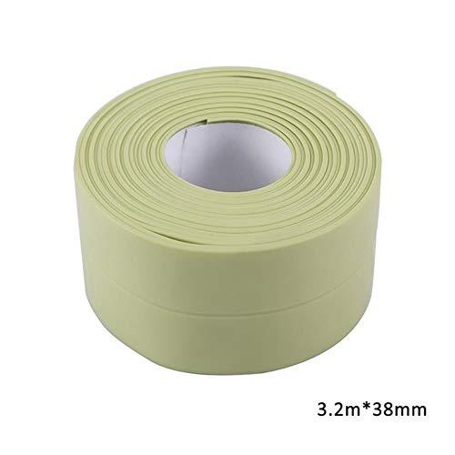 3.2mx38mm Badkamer Douchebak Bad Afdichtstrip Tape Wit PVC Zelfklevende Waterdichte Muursticker voor Badkamer Keuken, 5