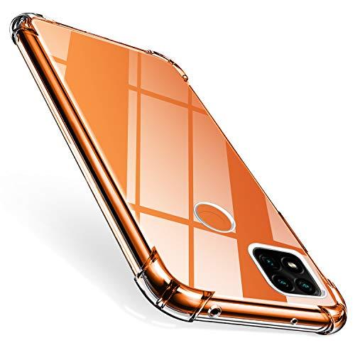 ivencase Cover Compatibile con Xiaomi Redmi 9C Silicone, Xiaomi Redmi 9C con 4 Angoli Cuscino d'Aria Protezione Anticaduta Trasparente TPU Clear Antiurto AntiGraffio Bumper Custodia