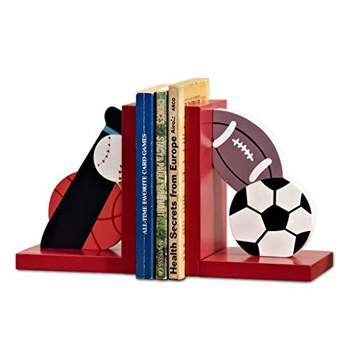 Fermalibri con palline e fermalibri in legno decorativo, per libri, resistente, confezione da 2 fermalibri per bambini