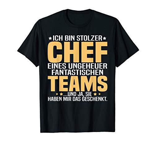 Herren Ich bin stolzer Chef eines ungeheuer fantastischen Teams T-Shirt